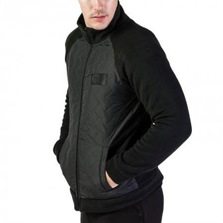 GSA Heat Pollar Fleece Semi Padded Jacket ΜΑΥΡΟ