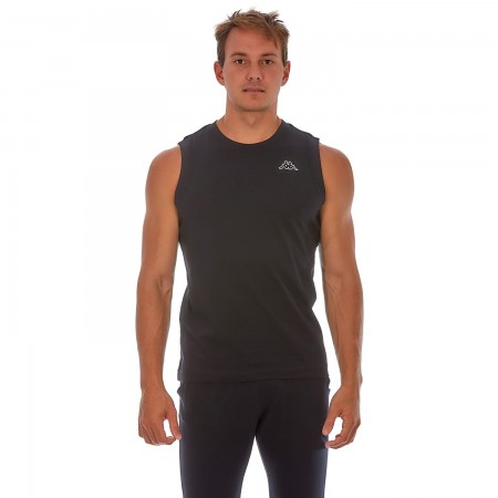 Kappa Ανδρικό Αμάνικο Μπλουζάκι Cadwal Black