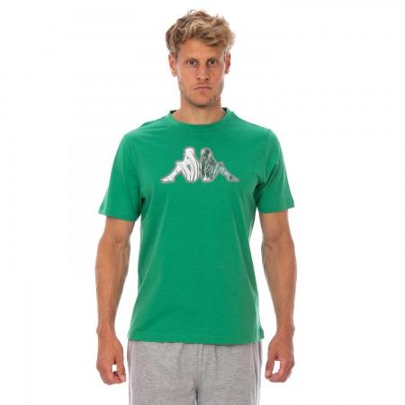 Kappa Ανδρικό T-Shirt Μπλουζάκι Dev Πράσινο