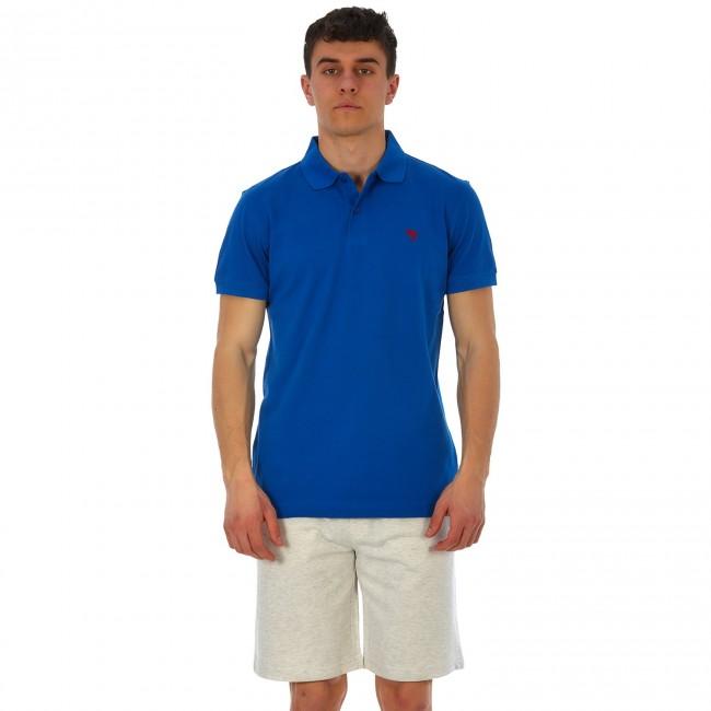 Malibu Ανδρικό T-Shirt Μπλουζάκι Karte Γαλάζιο