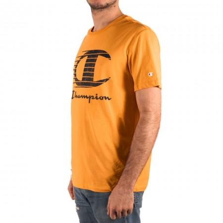 Champion Crewneck T-Shirt M Yellow