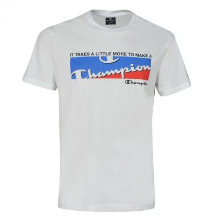 CHAMPION Ανδρικό T-shirt Graphic Shop Square White
