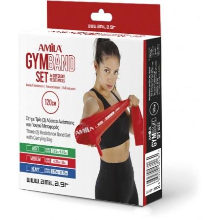 ΣΕΤ 3 Λάστιχα Gymband 1.2m (Πράσινο, Κόκκινο & Μπλε) Amila 48178