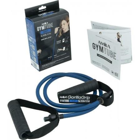 Λάστιχο με Λαβές Gym Tube Gorilla Grip Μπλε-Σκληρό Amila 96654