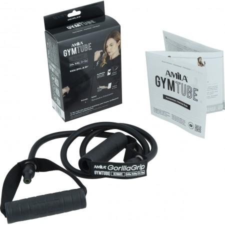 Λάστιχο με Λαβές Gym Tube Gorilla Grip Μαύρο-Πολύ Σκληρό Amila 96655