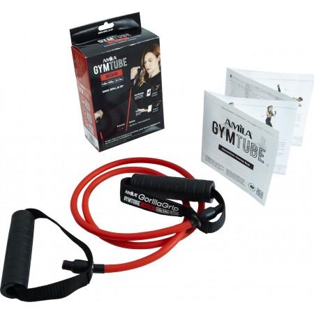 Λάστιχο με Λαβές Gym Tube Gorilla Grip Κόκκινο-Μεσαίο Amila 96653