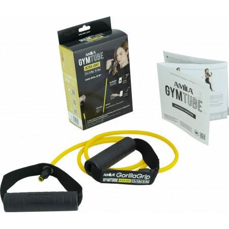 Λάστιχο με Λαβές Gym Tube Gorilla Grip Κίτρινο-Πολύ Μαλακό Amila 96651