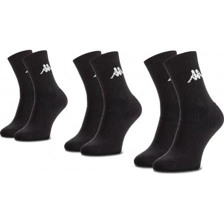 Kappa Ανδρικές Αθλητικές Κάλτσες Tennis Σετ 3τμχ Μαύρο