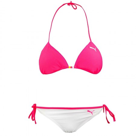 Puma Triangle Bikini Reversible White Pink Swimwear