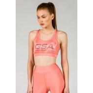 GSA GLOW Αθλητικό Μπουστάκι Peach
