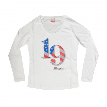 Champion Women's Athlentic American 1919 Custom Fit Top ΑΣΠΡΟ