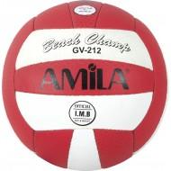 Amila Μπάλα Beach Volley Δίχρωμη 41653 (Κόκκινη/Άσπρη)