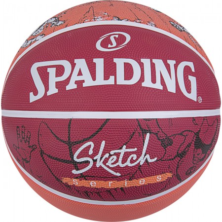 Spalding Sketch Dribble 84-381Z1 ΚΟΚΚΙΝΗ/ΠΟΡΤΟΚΑΛΙ
