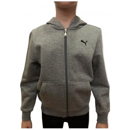 Puma Boy's Hooded Sweet Jacket Γκρι